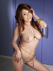 Busty Yuki Aida looking hot and posing nude