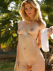 Emma needs a sexy soapy bath in her cowgirl wash basin