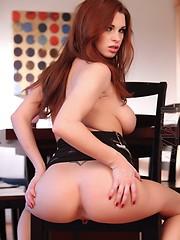 Sexy and sassy Sabrina Maree gets pleasure from a big dildo.