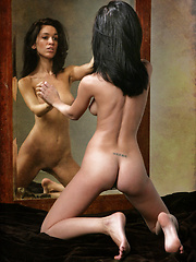 A double vision of Helen's luscious assets and slender physique.