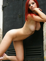 Big breasts scream to be touched and a thin line of pussy hair lead to treasure.