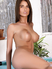 Playing pool with Nessa and her rock hard body is a pleasure, as she gets naked and plays with the balls.
