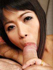 Oral loving Thai babe gets fucked