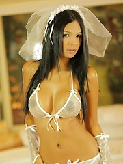 Karla Spice feels sexy all dressed in white