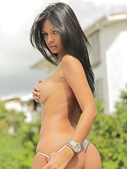 Karla Spice gets some beauty time on her rooftop
