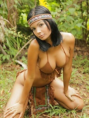 Karla is one hot indian and strips her tiny clothes off