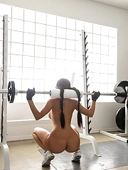 Super hot latina petite gym babe rides cock huge juicy tits
