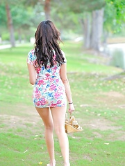 Eliana and the flowery dress