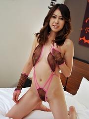 Good handjob for cute Rinka Kase