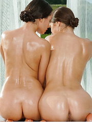 Gabriel A and Vanda B, both oiled and lusty
