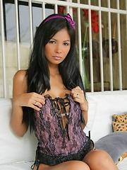 Karla is femme fatale in her sexy lingerie