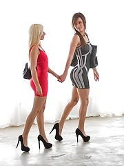 After the tour they went back home where malena didnt take long to start kissing jessye and undressing her until hey sucked on each others delicious tits and munched on each others sweet pussies and assholes