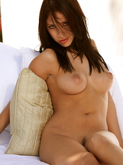 Cydella Jimenez - is an amazing brunette with a natural figure that screams sex