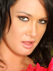 Sexy busty brunette, Tory Lane, shows off her perfect ass in her tiny mini skirt.  She puts on a hot striptease revealing her natural big tits and gorgeous body to all!