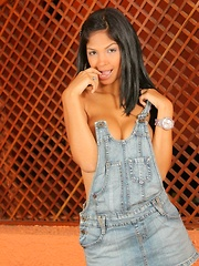 Karla strips off everything except her jean jumper