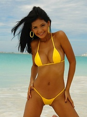Karla is stunning in her itty bitty bikini