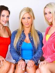 3 smoking hot beautiful lesbian miniskirt teens fuck eachothers hot box in these finger fucking screaming pic set