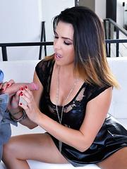Danica Dillan energetically sucks and fucks big cock