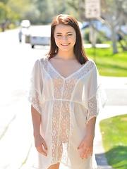 Kylie Sheer White Dress